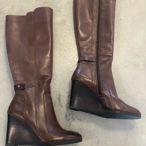 Franco sarto leather brown  boots